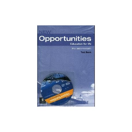 New Opportunities Pre-intermediate Test Book + CD Longman 9781405838047