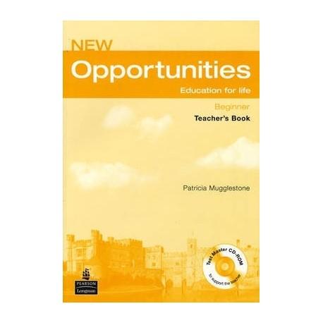 New Opportunities Beginner Teacher's Book with Test Master CD-ROM
