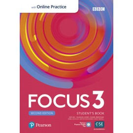 Focus 3 Second Edition Student's Book with PEP + Online Practice