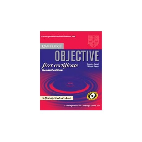 Objective First Certificate Updated Edition Self-study Student's Book Cambridge University Press 9780521700641