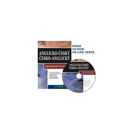 Anglicko-český; Česko-anglický Praktický Slovník + CD-ROM TZ-ONE 9788090360648