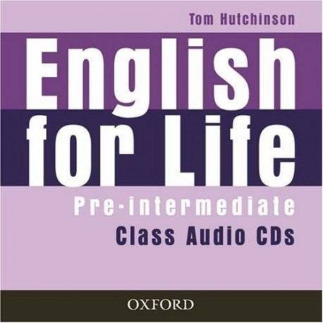 English for Life Pre-Intermediate Class Audio CDs Oxford University Press 9780194307437