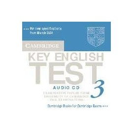 Cambridge Key English Test KET 3 Audio CD