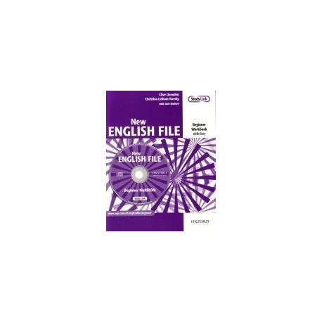 New English File Beginner Workbook with key + MultiROM Oxford University Press 9780194518734