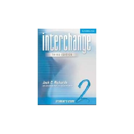 Interchange 2 Third Edition Student's Book Cambridge University Press 9780521601962