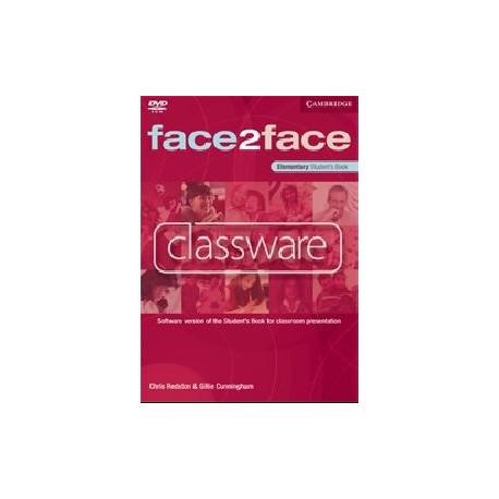 Face2Face Elementary Student's Book Classware Cambridge University Press 9780521740456