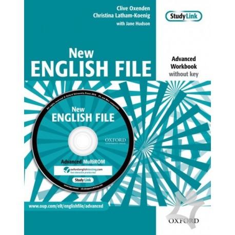 New English File Advanced Workbook Without Key + MultiROM Oxford University Press 9780194594646