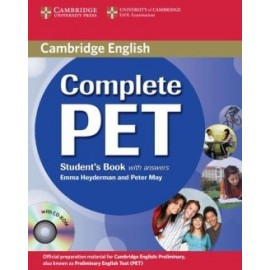 Complete PET Student's Book with answers + CD-ROM