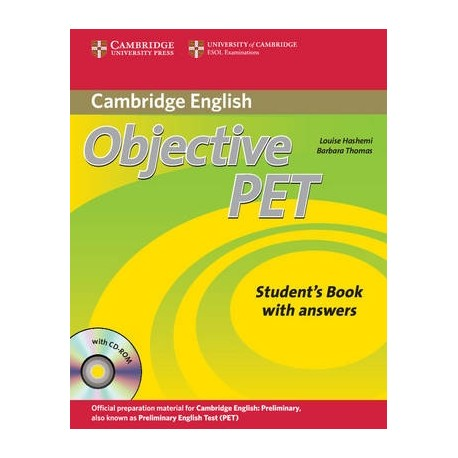 Objective PET Second Edition Student's Book with answers + CD-ROM Cambridge University Press 9780521732666