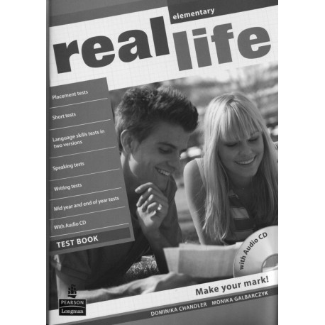 Real Life Elementary Test Book + Audio CD Longman 9781408243022