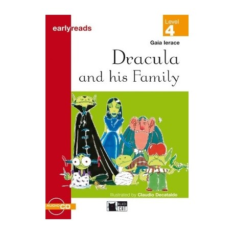 Dracula and his Family + CD (Level 4) Black Cat - CIDEB 9788877544582