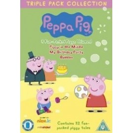 Peppa Pig DVD 3 Complete Volumes - Bubbles, My Birthday Party, Piggy in the Middle