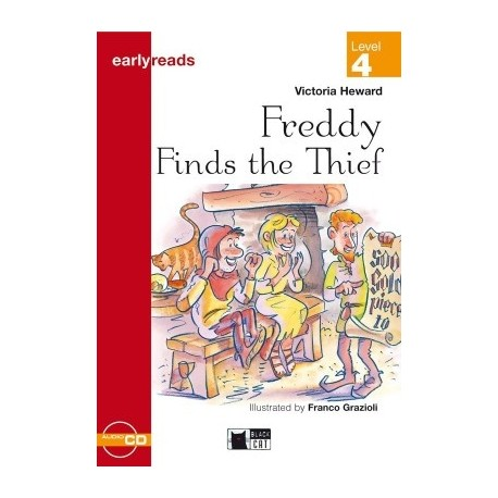 Freddy Finds the Thief + CD (Level 4) Black Cat - CIDEB 9788877546135