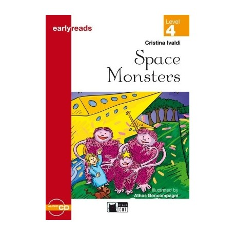 Space Monsters + CD (Level 4) Black Cat - CIDEB 9788877544650