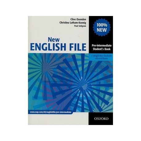 New English File Pre-Intermediate Student's Book + CZ Wordlist Oxford University Press 9780194519090