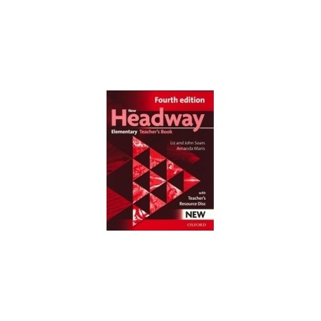 New Headway Elementary Fourth Edition Teacher's Book + CD-ROM Oxford University Press 9780194769112