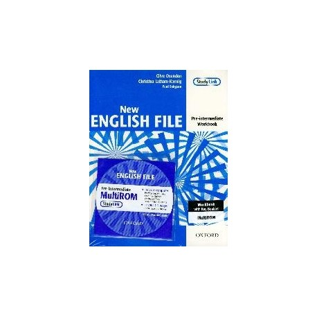 New English File Pre-Intermediate Workbook with Answer Booklet and MultiROM Pack Oxford University Press 9780194387675